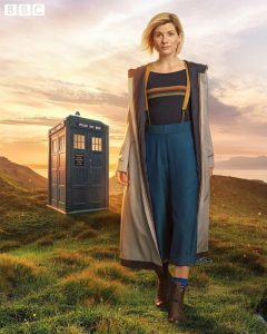 Jodie Whittaker Doctor Who costume Tardis